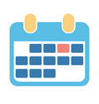 abstract design calendar icon for business vector image