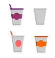 Coffee cups - styro cups vector image