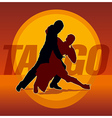 Couple dancing argentine tango vector image