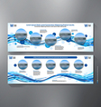 Exhibition Stand Displays Template vector image