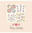 floral card birthday vector image