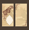 greeting card with frame and orchid vector image