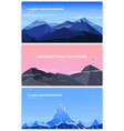 set of horizontal background with mountains vector image