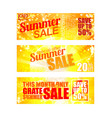 summer sale banners set eps 10 vector image