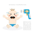 Temperature measurement baby vector image
