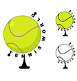 Tennis world Game ball Globe Sports accessory as vector image