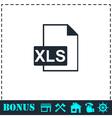 XLS icon flat vector image