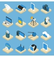 Wireless Technology Isometric Icons On Pedestals vector image
