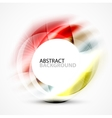 Shiny blurred cicrle template vector image vector image