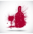 Wine drinking sign vector image