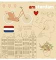 set of Amsterdam symbols vector image