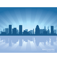 Baltimore maryland skyline vector image