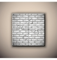 Brick background on puzzle vector image