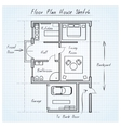 Floor plan house sketch vector image
