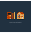 House maintenance calculation icon living expenses vector image