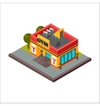 Isometric sports club fitness gym vector image