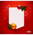 Red traditional Christmas note vector image