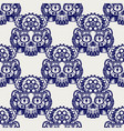 Robot skull with gears seamless pattern vector image