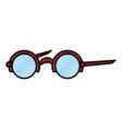 round frame glasses vector image