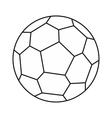 Soccer ball icon outline style vector image