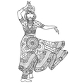 Indian dancer in a patterned dress vector image vector image