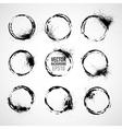 Set of round grunge frames Grunge background vector image