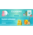 Cleaning Service Horizontal Banners vector image vector image