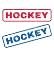 Hockey Rubber Stamps vector image