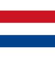 netherlander flag vector image vector image