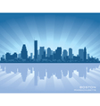boston massachusetts skyline vector image vector image