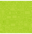 Thin Green Gadgets and Devices Line Seamless vector image