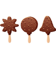 chocolate popsicles vector image vector image