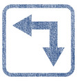 bifurcation arrow left down fabric textured icon vector image