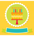 Birthday card with a cake and candles vector image