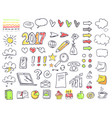 hand drawn small minimalistic pictures on paper vector image