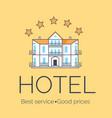 hotel five stars icon vector image