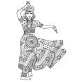 Indian dancer in a patterned dress vector image