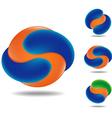 orange ball vector image