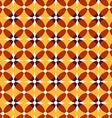 Seamless retro yellow pattern vector image
