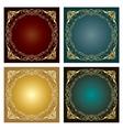 Set of Vintage radial ornaments vector image