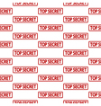 Top secret stamp seamless pattern vector image