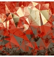 Triangles background with blobs and blots vector image