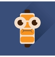 Flat web icon with long shadow battery charge vector image