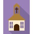 church cross building religion icon vector image