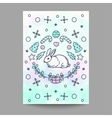 Christmas Card New Year Poster Rabbit Design on vector image