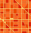 Abstract seamless background of city district vector image