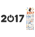 Start 2017 Icon With 2017 Year Bonus Pictograms vector image