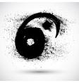 Grunge Yin Yan Sign vector image