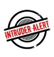 Intruder Alert rubber stamp vector image