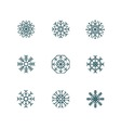 Snowflake Icons Collection vector image